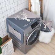 Cotton and Linen Dust Cover Dustcloth for Drum Washing Machine Bedside Cabinet