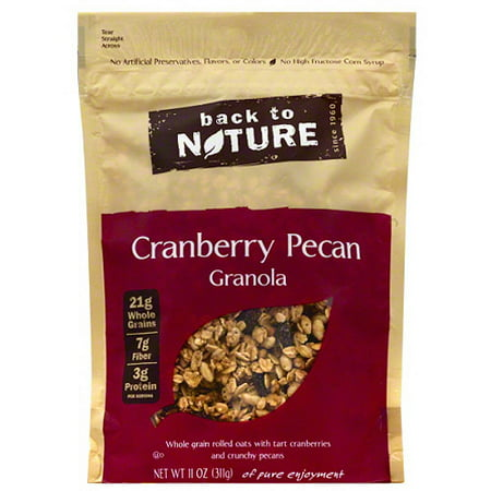 Back to Nature Cranberry Pecan Granola, 11 oz, (Pack of