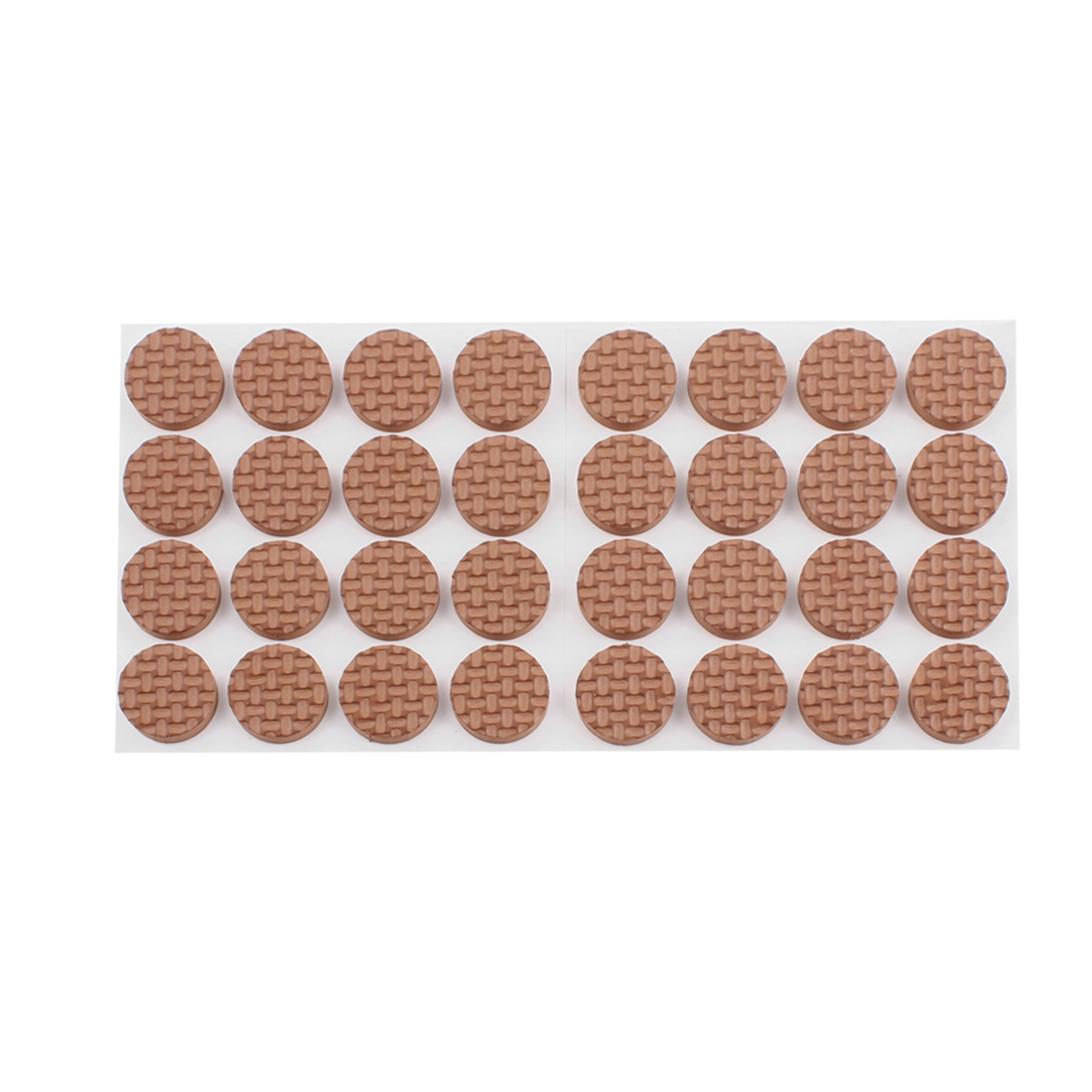 Self Adhesive Scratch Protection Furniture Floor Round Pad Brown 32pcs