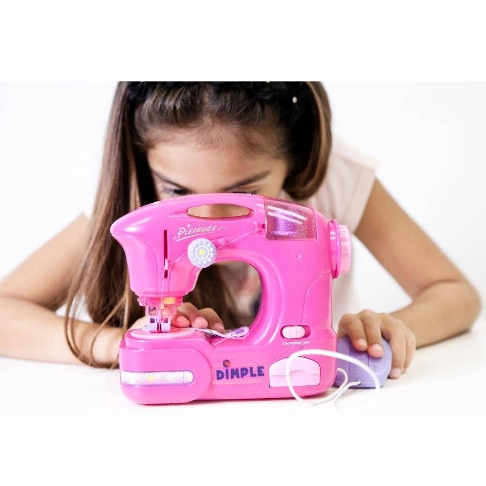 Children 8217 S Sewing Machine Toy With Accessories And Hand Pedal By Dimple