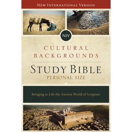 NIV, Cultural Backgrounds Study Bible, Personal Size, Hardcover, Red Letter Edition : Bringing to Life the Ancient World of Scripture