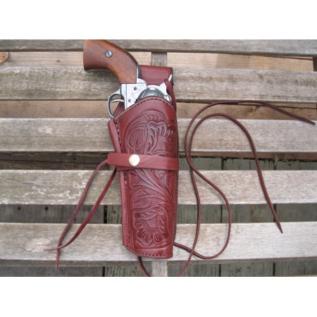 Western Gun Holster - Burgundy - Right Handed - for .22 Caliber single action revolver - Size 6