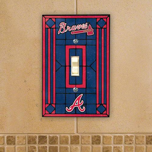 MLB - Atlanta Braves Light Switch Cover: Single Glass