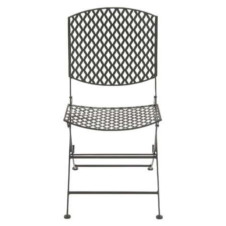cole grey metal folding chair