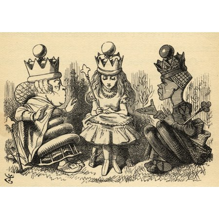 Alice With The White Queen And The Red QueenIllustration By Sir John Tenniel 1820-1914 From The Book Through The Looking-Glass And What Alice Found There By Lewis Carroll Published London 1912 PosterP