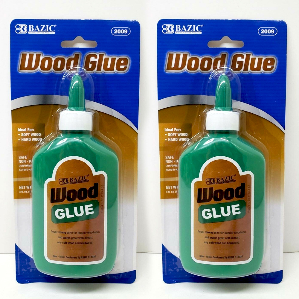 2 Bottle Wood Glue Super Strong Carpenter Repair Adhesive Bond Fast Set 8 Ounces