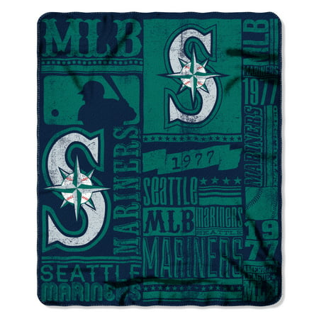 Mariners OFFICIAL Major League Baseball, Strength 50x 60 Fleece Throw  by The Northwest