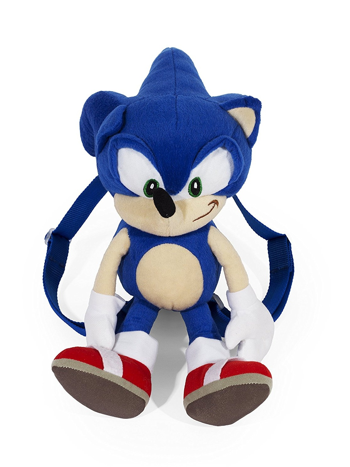 "Sega Sonic The Hedgehog 16/"" Canvas Blue School Backpack"