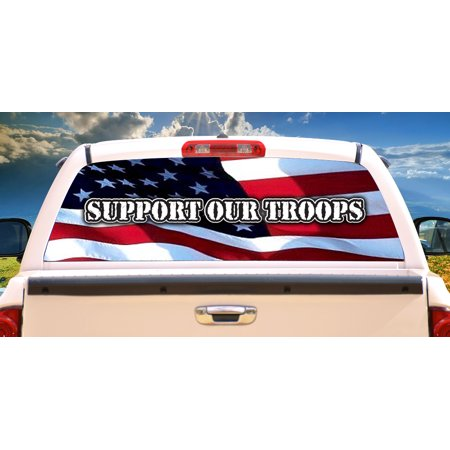 AMERICA STRONG Rear Window Graphic truck view thru vinyl decal back