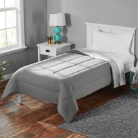 Deals on Mainstays Solid Brushed Microfiber Reversible Twin Comforter