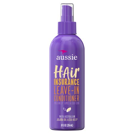 Aussie Hair Insurance Leave-In Conditioner w/ Jojoba & Sea Kelp, 8.0 fl (Daily Leave In Conditioner For Natural Hair)