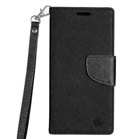 Samsung Galaxy S8+ Case, Samsung Galaxy S8 Plus Case, by Insten Stand Book-Style Leather [Card Slot] Wallet Flap Pouch Case Cover For Samsung Galaxy S8 Plus S8+, Black