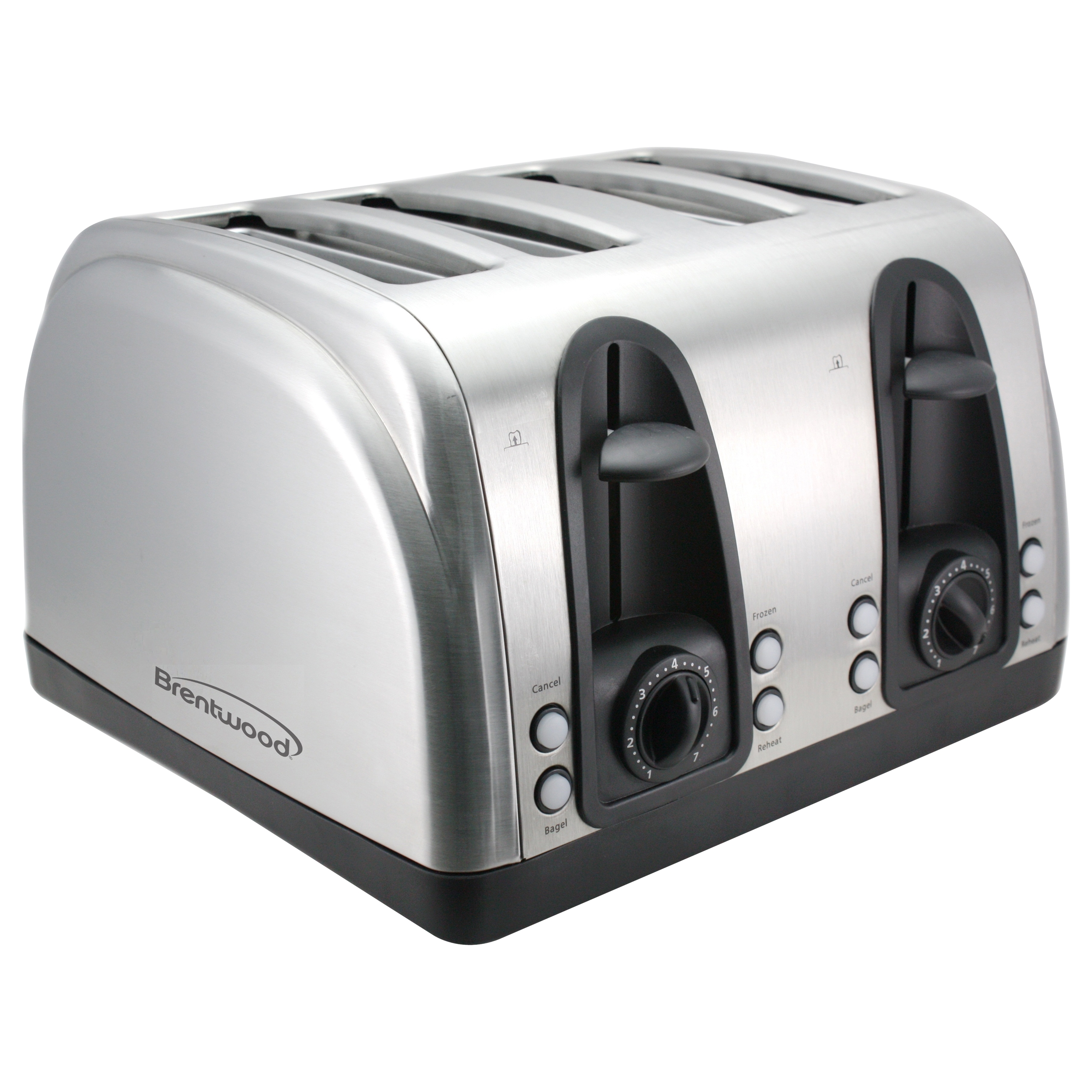 Brentwood TS-445S 4-Slice Elegant Toaster, Brushed Stainless Steel