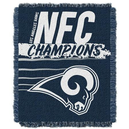 "Single Pole Triple Throw (National Football League, Los Angeles Rams ""2019 NFC Champions"" 46""x 60"" Triple Woven Jacquard Throw – by The Northwest Company )"