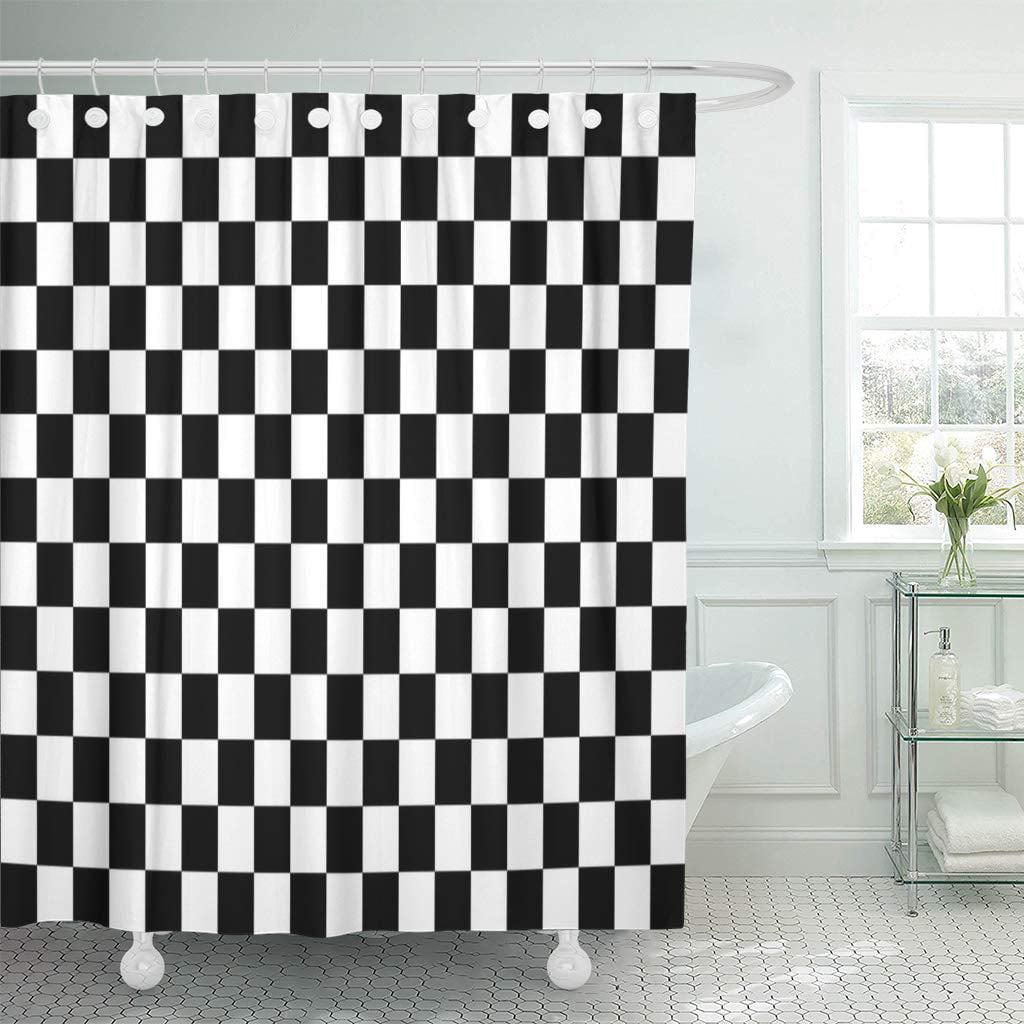 KSADK Race Simple Black and White Checkered Grid Start ...