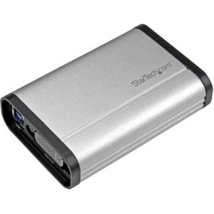 StarTech.com USB 3.0 Capture Device for High Performance DVI Video - 1080p 60fps - Aluminum - Functions: Video Capturing, Video Recording - 1920 x 1200 - MPEG-4, H.264 - DVI - USB - Audio Line In