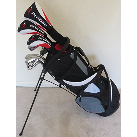 Mens Right Handed Complete Golf Club Set Driver, Fairway Wood, Hybrid, Irons, Putter & Stand Bag Regular Flex Graphite Shafts