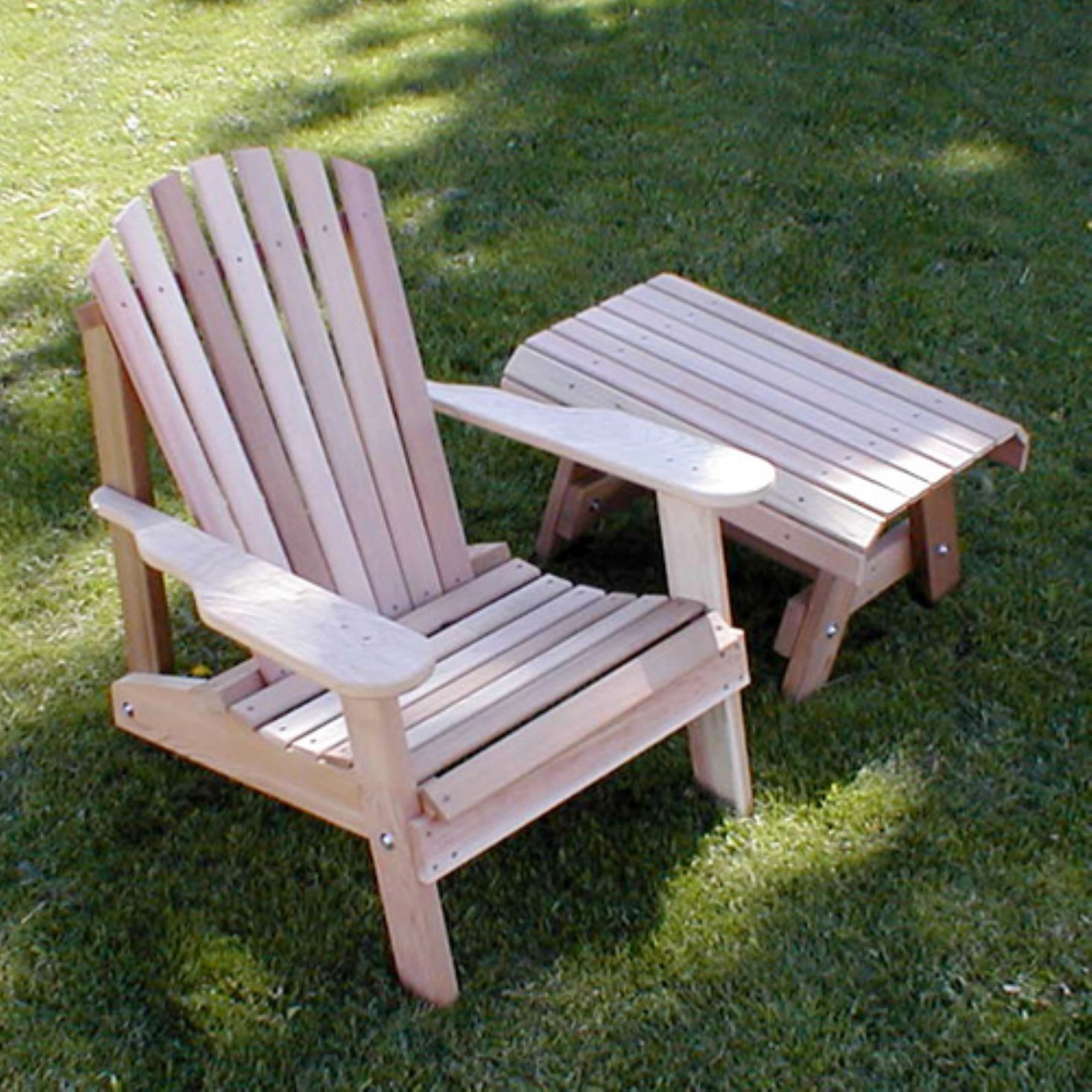 Creekvine Designs American Forest Cedar Adirondack Chair and Table 2 pc. Set