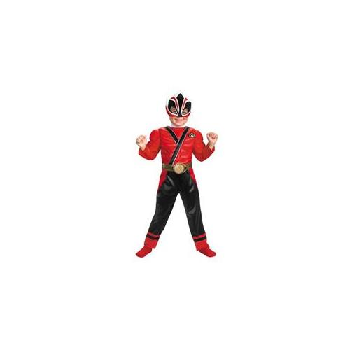 Costumes For All Occasions DG38250S Red Ranger Samurai Muscle 1-2