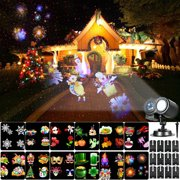 Projection Light Animated Led Projector Remote Control Light Christmas Projector Lights with 12 Dynamic Animation Slides Decorative Lighting for Holiday Party Home Yard Garden