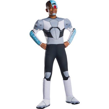 Teen Titans Go Movie Boys Deluxe Cyborg Halloween Costume](Teen Boy Costumes)