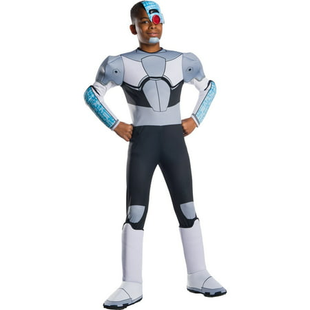Titans Costume (Teen Titans Go Movie Boys Deluxe Cyborg Halloween)