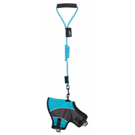 - Touchdog Reflective-Max 2-In-1 Premium Performance Adjustable Dog Harness And Leash, Light Blue - Small