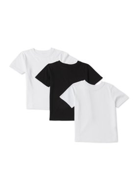 Garanimals Toddler Boy Solid Crew Neck T-shirts, 3-Pack