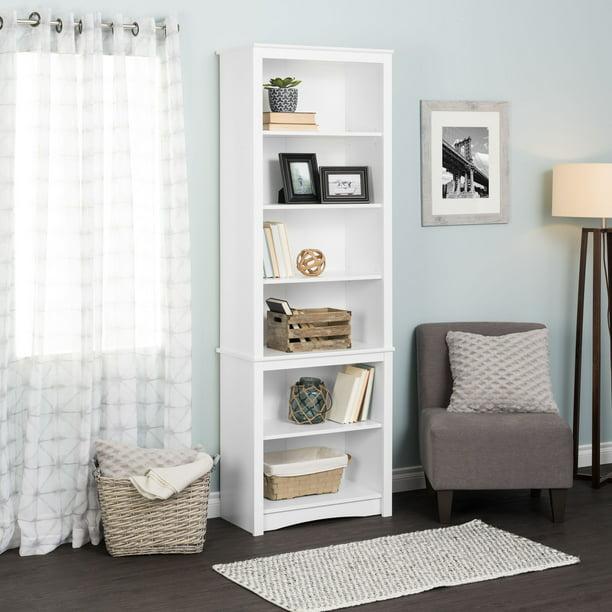 Prepac Tall Bookcase, White