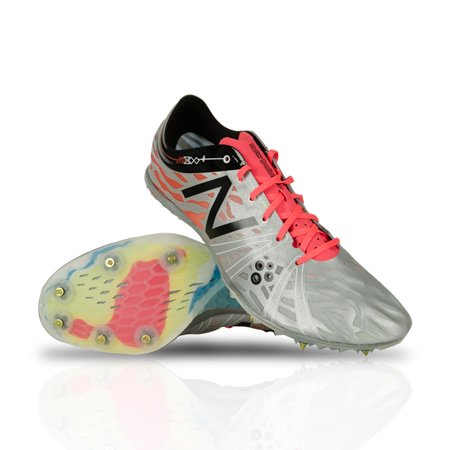 New Balance Men's UMD800N3 Track Spikes, Grey/Neon Orange, 5 D(M)