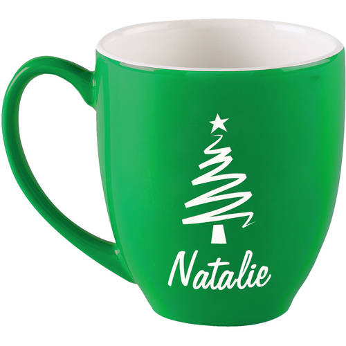 Personalized Candy Cane Bistro Coffee Mug, 16 oz