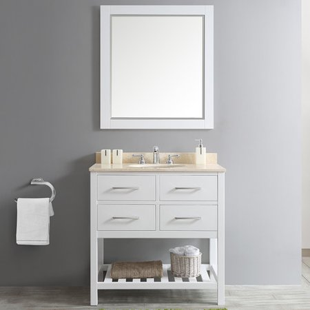 Willa Arlo Interiors Trond 36 39 39 Single Vanity Set With Rectangular Mirror