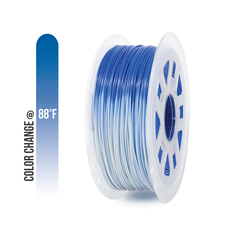 Gizmo Dorks 1.75mm / 3mm Heat Activated Color Change ABS Filament for 3D Printers 1 kg, Multiple Colors