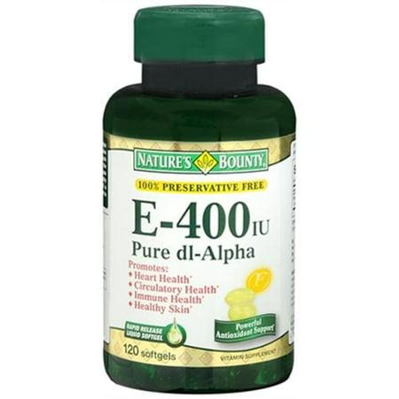 Nature's Bounty La vitamine E 400 UI Gélules DL-alpha pur 120 Gels mous (pack de 3)