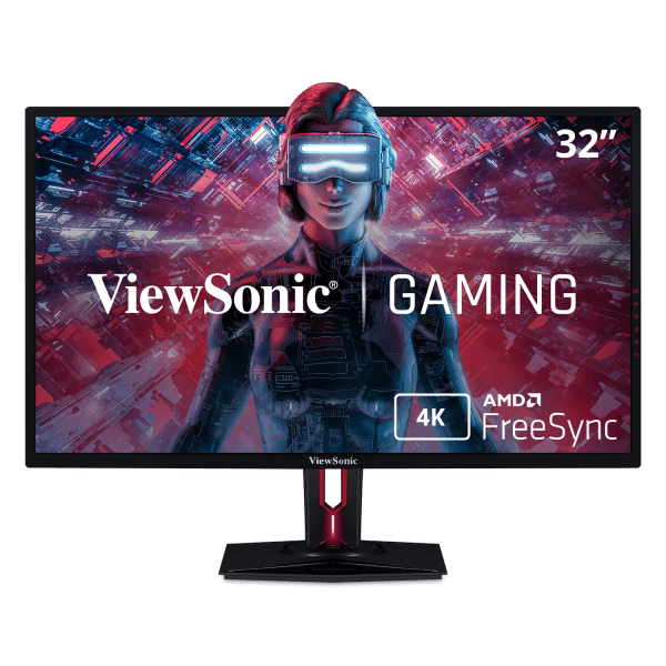 ViewSonic XG3220 32 Inch 60Hz 4K Gaming Monitor with FreeSync HDMI DP Eye Care Advanced Ergonomics and HDR10 for PC and Console Gaming