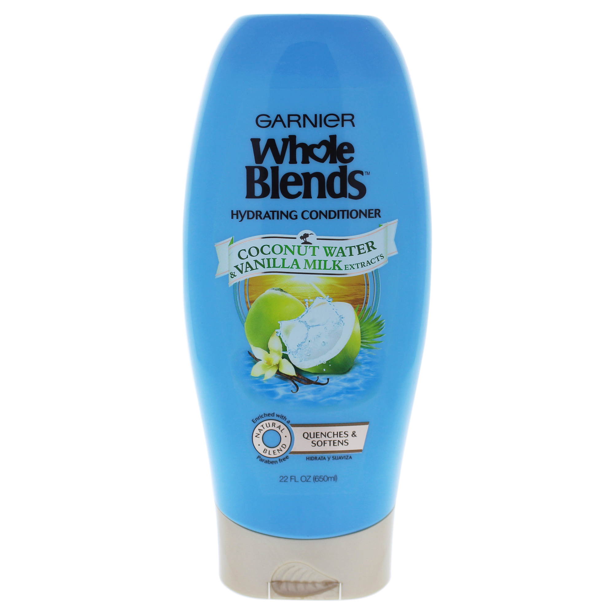 Garnier Whole Blends Conditioner with Coconut Water & Vanilla Milk Extracts 22 FL OZ