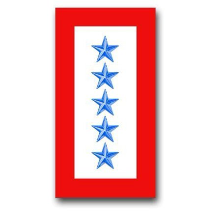 United States Army ' Five Blue Stars ' Service Flag Decal Sticker (Five Star Marine Services Corporation Contact Number)