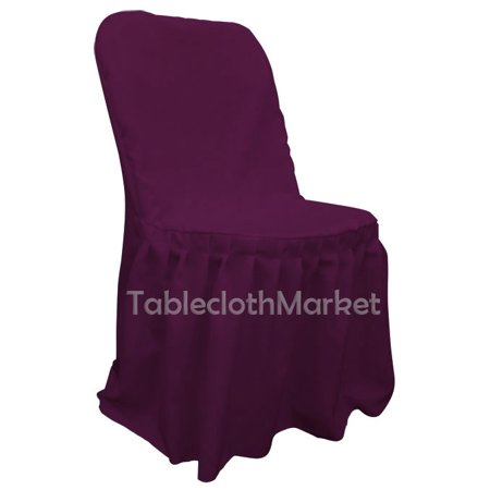 chair covers pleated polyester wedding party decorations folding