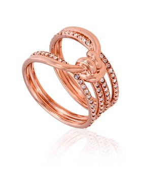 c3f7b8084 Product Image Swarovski Lifelong Rose Gold-Plated Ring- Size 58