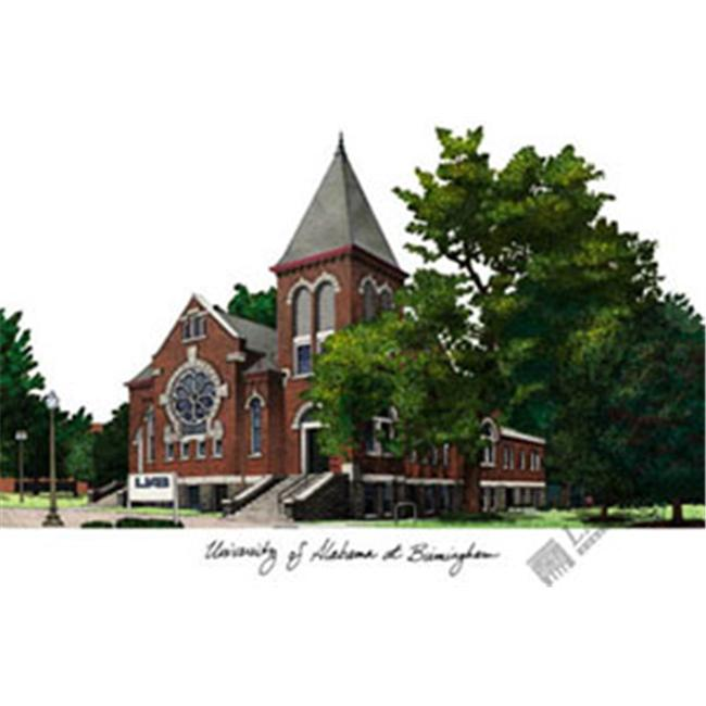 University of Alabama  Birmingham Campus Images Lithograph Print