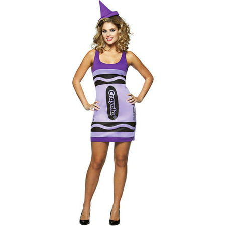 Crayola Wisteria Tank Dress Adult Halloween Costume - One Size](Rasta Woman Halloween Costume)