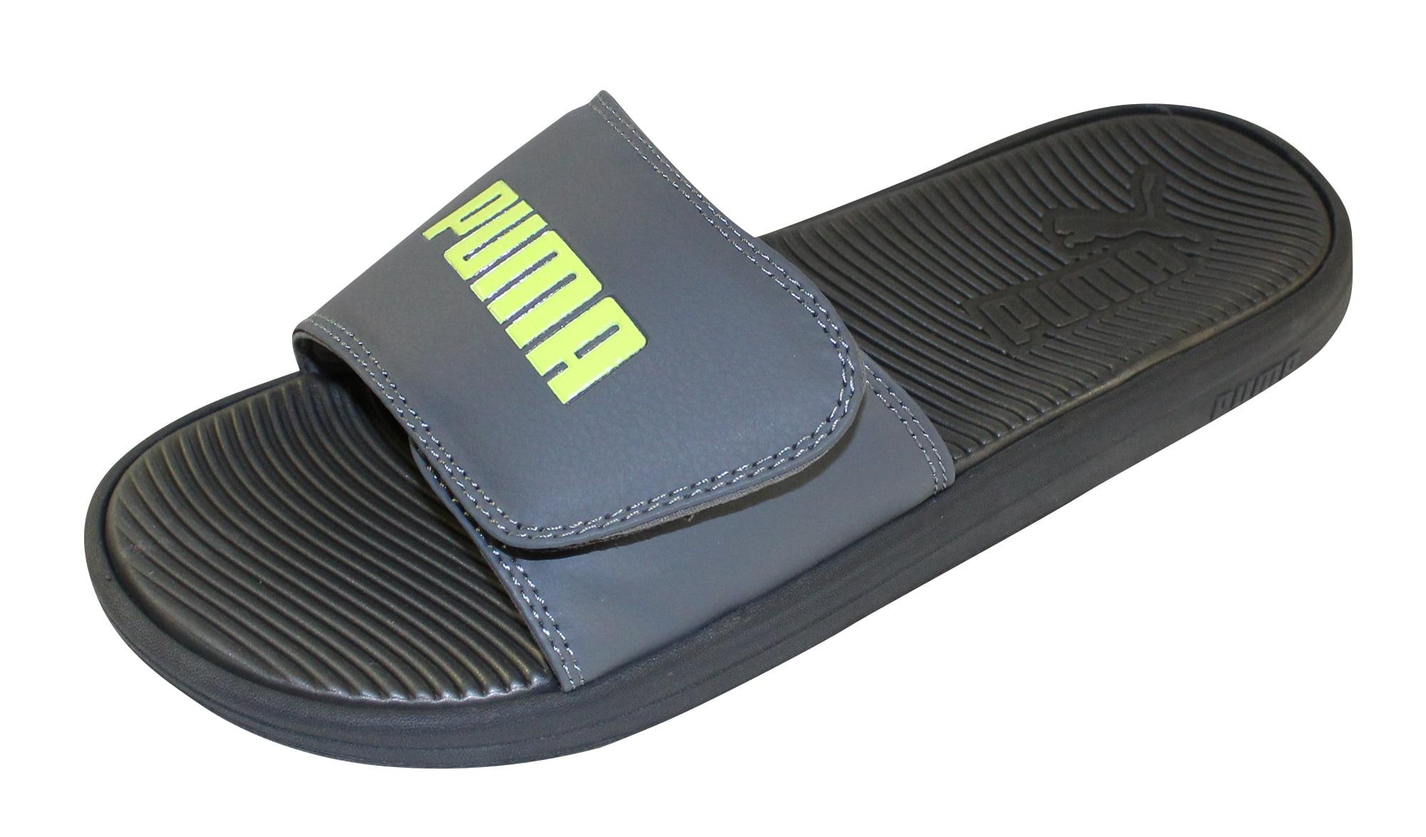 Puma Men's Adjustable Velcro Logo Slide