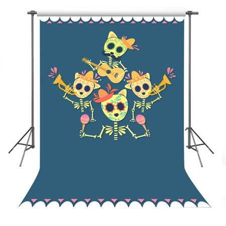 MOHome Polyster Photo Background 5x7ft Cartoon Pattern Photography Backdrop For Children Halloween Theme Party Props - Halloween Theme Photo Editor