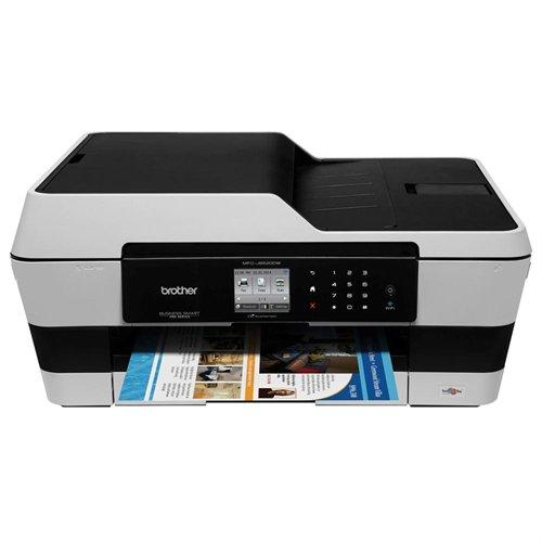Brother Business Smart Mfc-j6520dw Inkjet Multifunction Printer - Color - Plain Paper Print - Desktop - Copier/fax/printer/scanner - 35 Ppm Mono/27 Ppm Color Print - 1200 X 6000 Dpi Print (MFCJ6520DW)