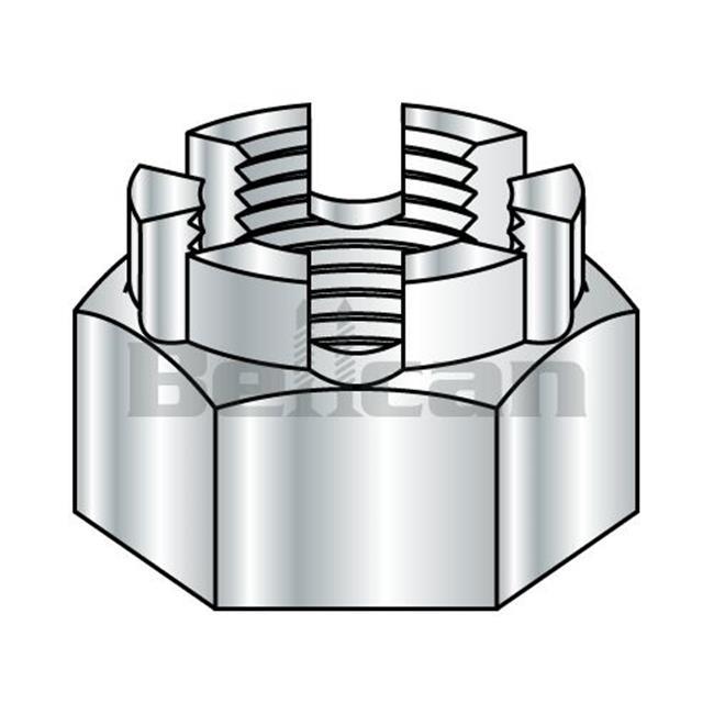 Shorpioen 15NHC 0.25-28 Castle Nut - Zinc - Box of 2000