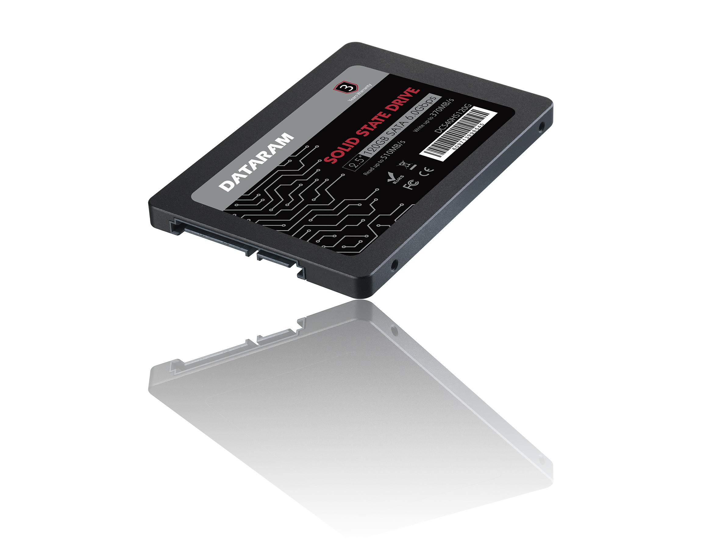 DATARAM 120GB 2.5 SSD Drive Solid State Drive Compatible with GIGABYTE GB-BKI5T2-7200