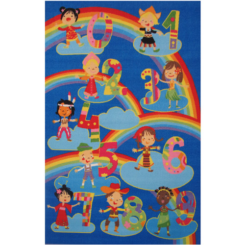 Fun Rugs Kids and Numbers Kids' Rug, Blue