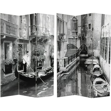 6' Tall Double Sided Scenes of Venice Canvas Room Divider