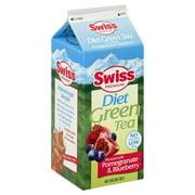 Swiss Diet Pomegranate & Blueberry Green Tea, Half Gallon