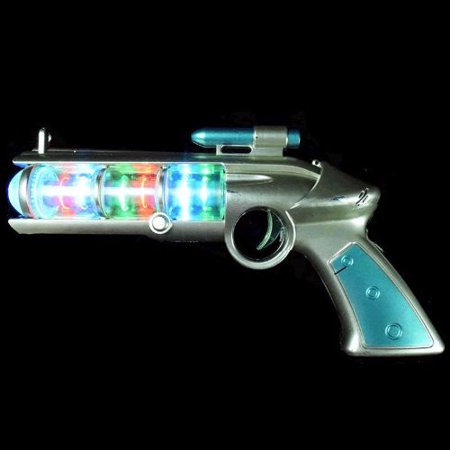 Blinkee 1465080 Light Up Spinning Barrel Space Gun